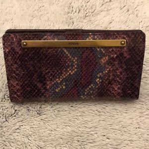 $88 Fossil Liza Slim wallet